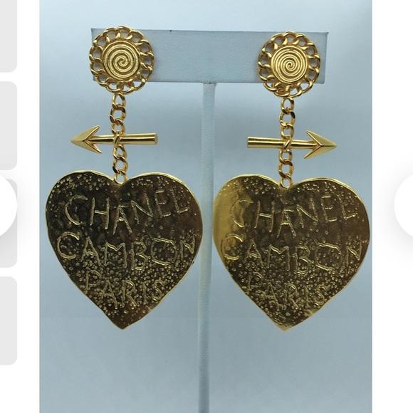 recreated Chanel vintage Rue Cambon Paris clip ons